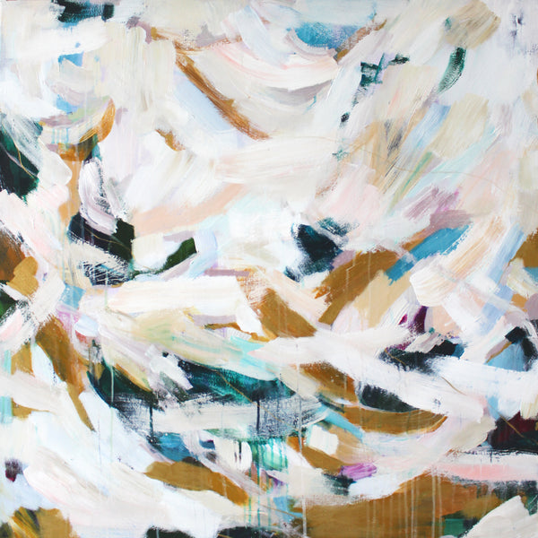Waverly, square abstract painting by Parima Studio