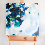 Zie by Parima Studio // blue abstract painting