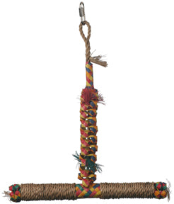 "Hagen - Rustic Treasures T-Perch Swing - Small - 14.5"" x 12"" - 1 1/4"" Perch Diameter"
