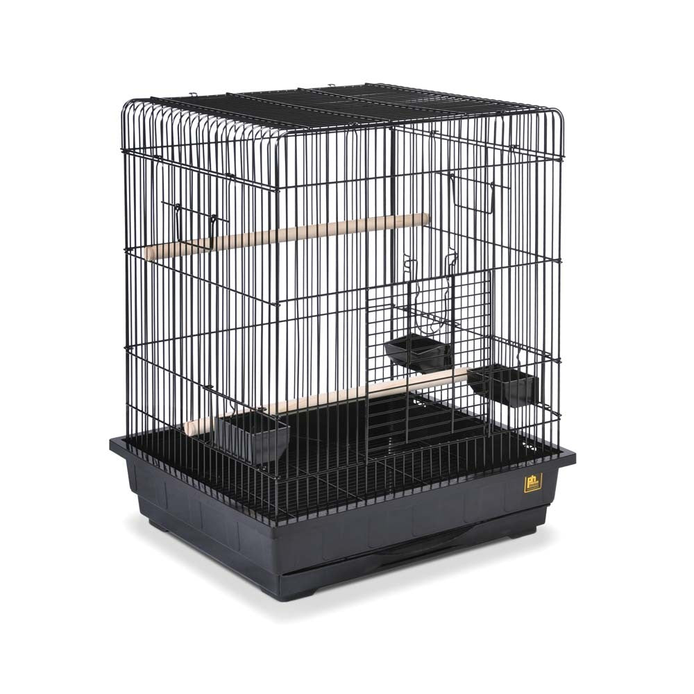 Square Roof Parrot Cage Black 25x21