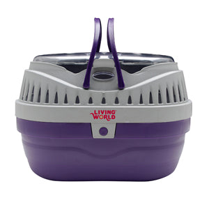 Living World Carrier Purple/Grey Small