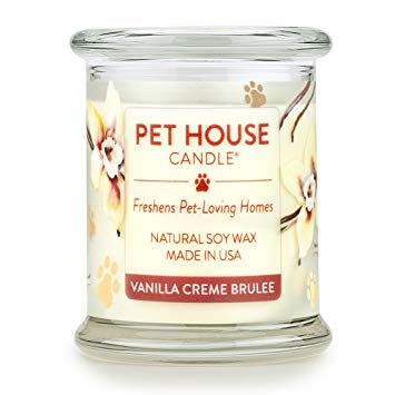 Vanilla Creme Brulee Pet House Candle