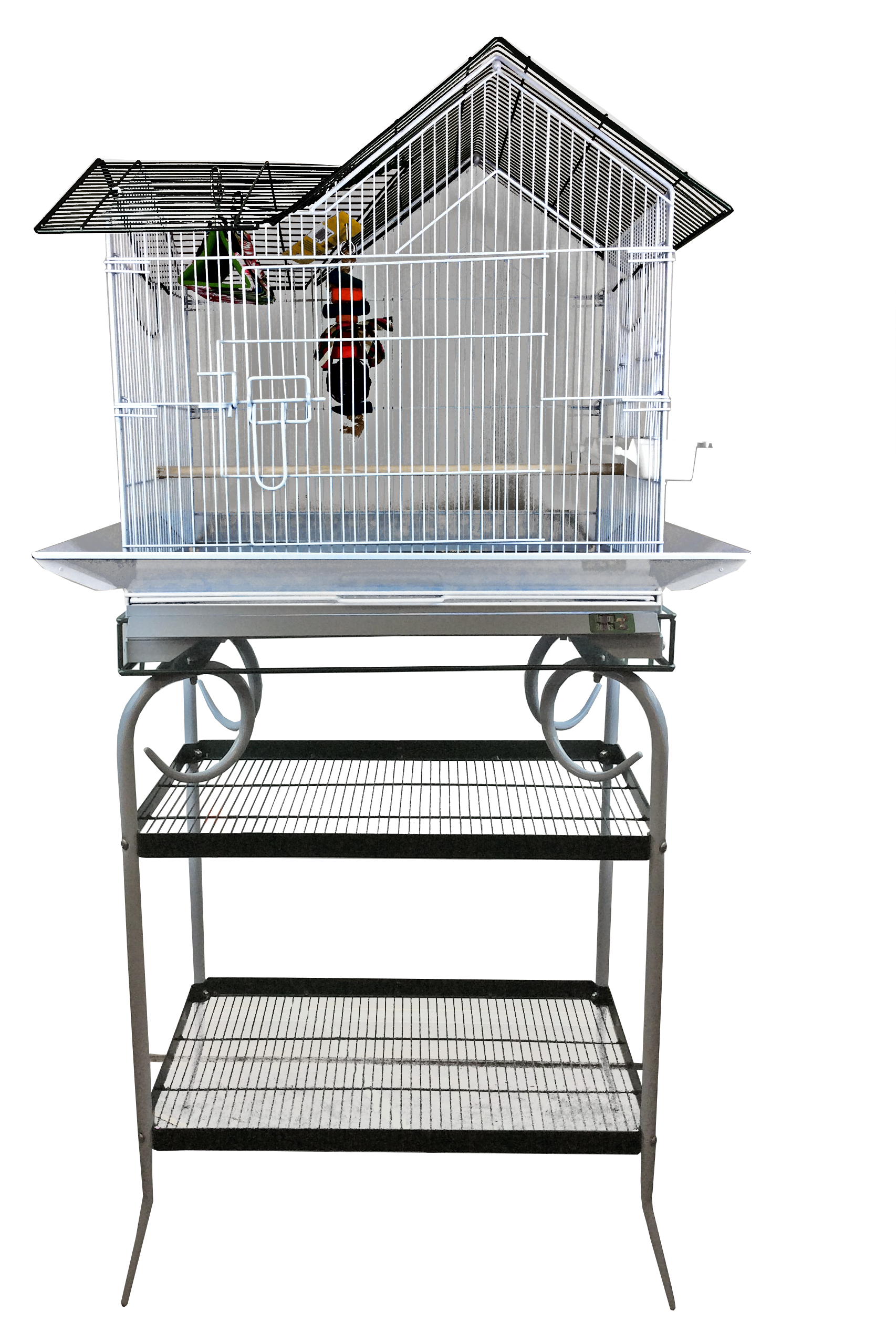 "House Cage with Stand - 27"" x 18"" x 57"""