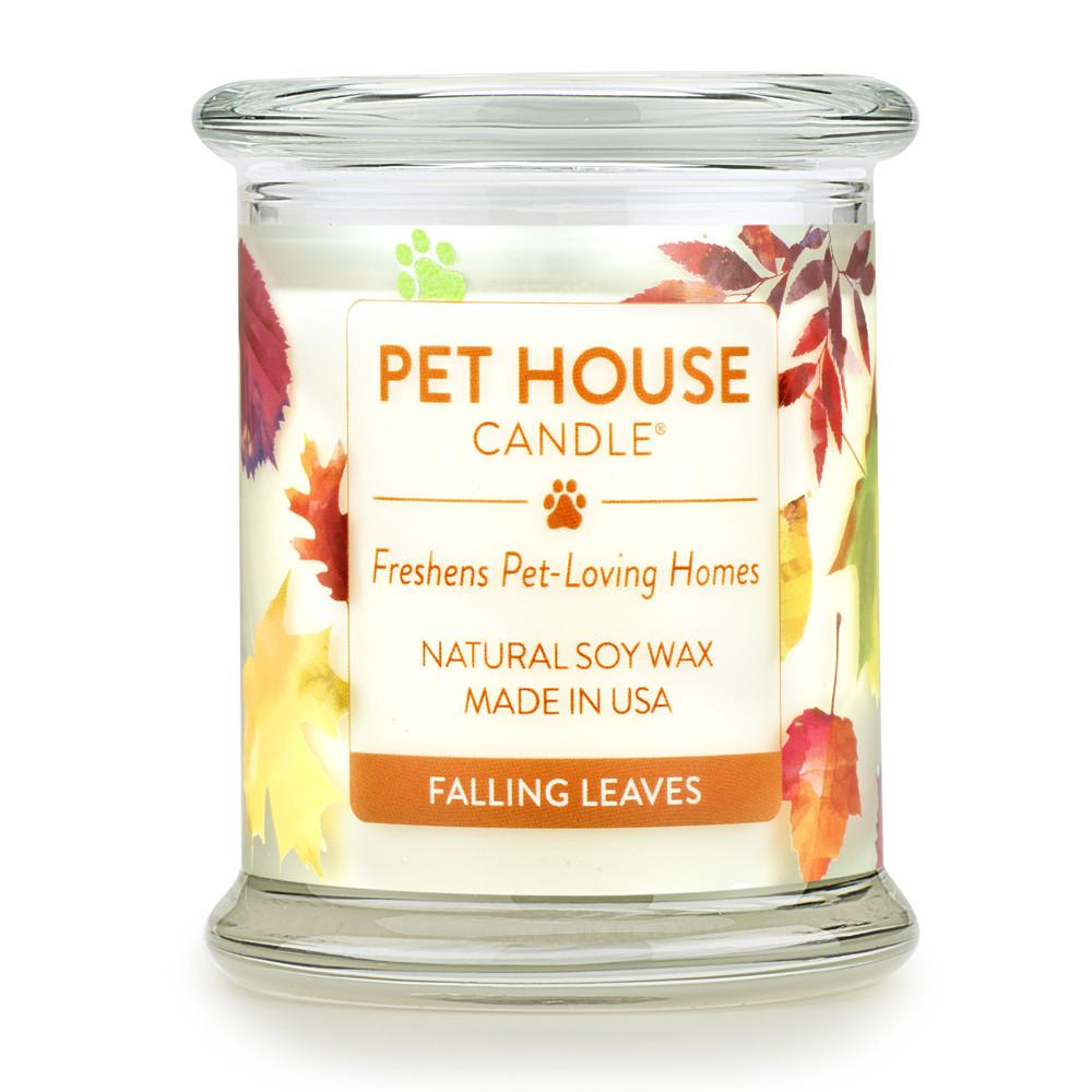 Falling Leaves Pet House Candle
