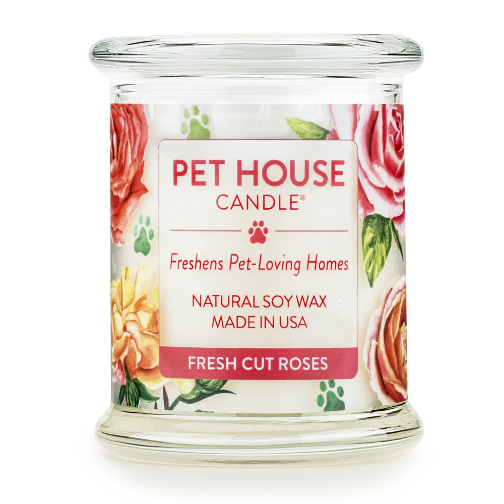 Fresh Cut Roses Pet House Candle
