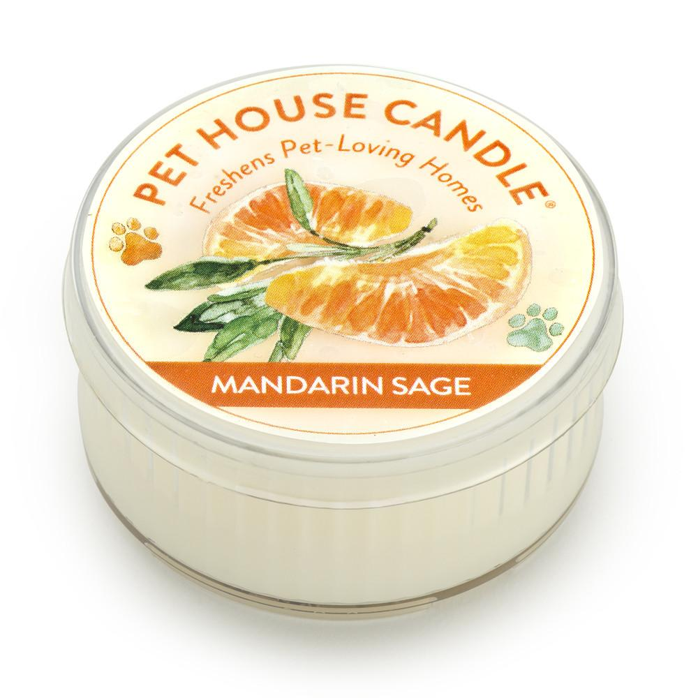 Mandarin Sage Mini Pet House Candle