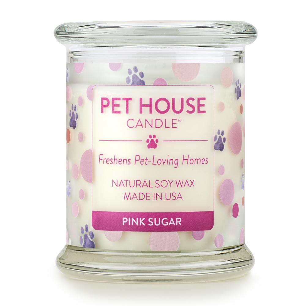 Pink Sugar Pet House Candle