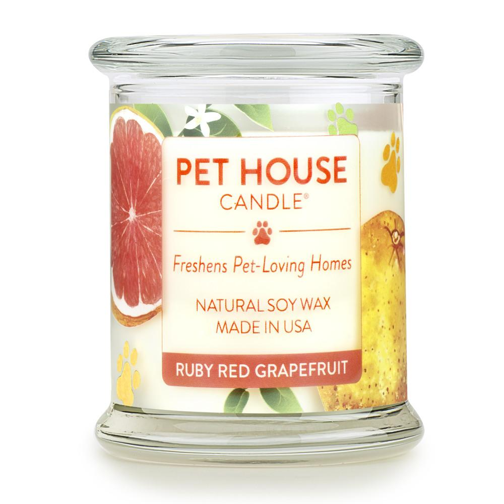 Ruby Red Grapefruit Pet House Candle