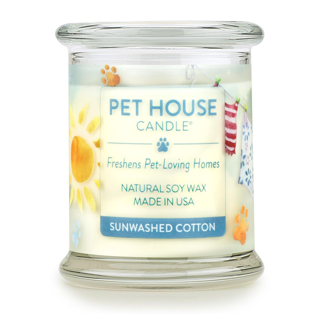 Sunwashed Cotton Pet House Candle
