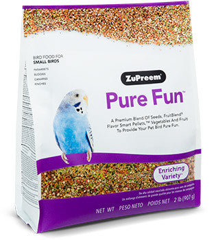 Zupreem Pure Fun Bird Food for Small Birds 2 lb