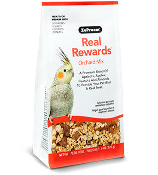 Zupreem Real Rewards Orchard Mix Medium Bird Treats 6 oz