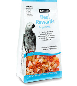 Zupreem Real Rewards Tropical Mix Large Bird Treats 6
