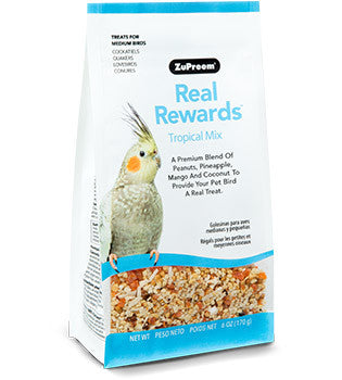 Zupreem Real Rewards Tropical Mix Medium Bird Treat 6 oz