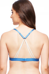 Lacy Dainties Cross Dye Strappy Bralette