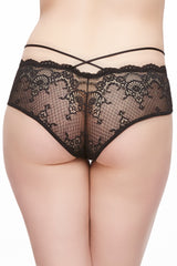 Velvet Crush Crisscross Lace Cheeky