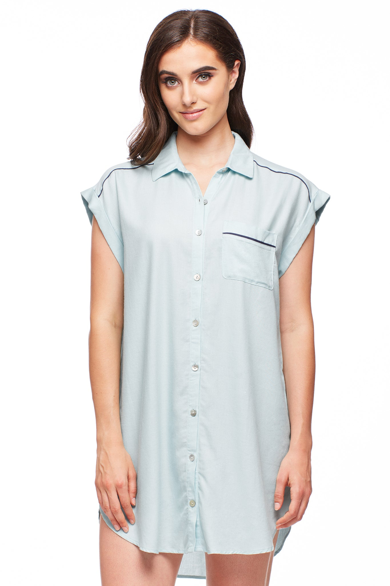 Paradise City Button-Down Nightshirt
