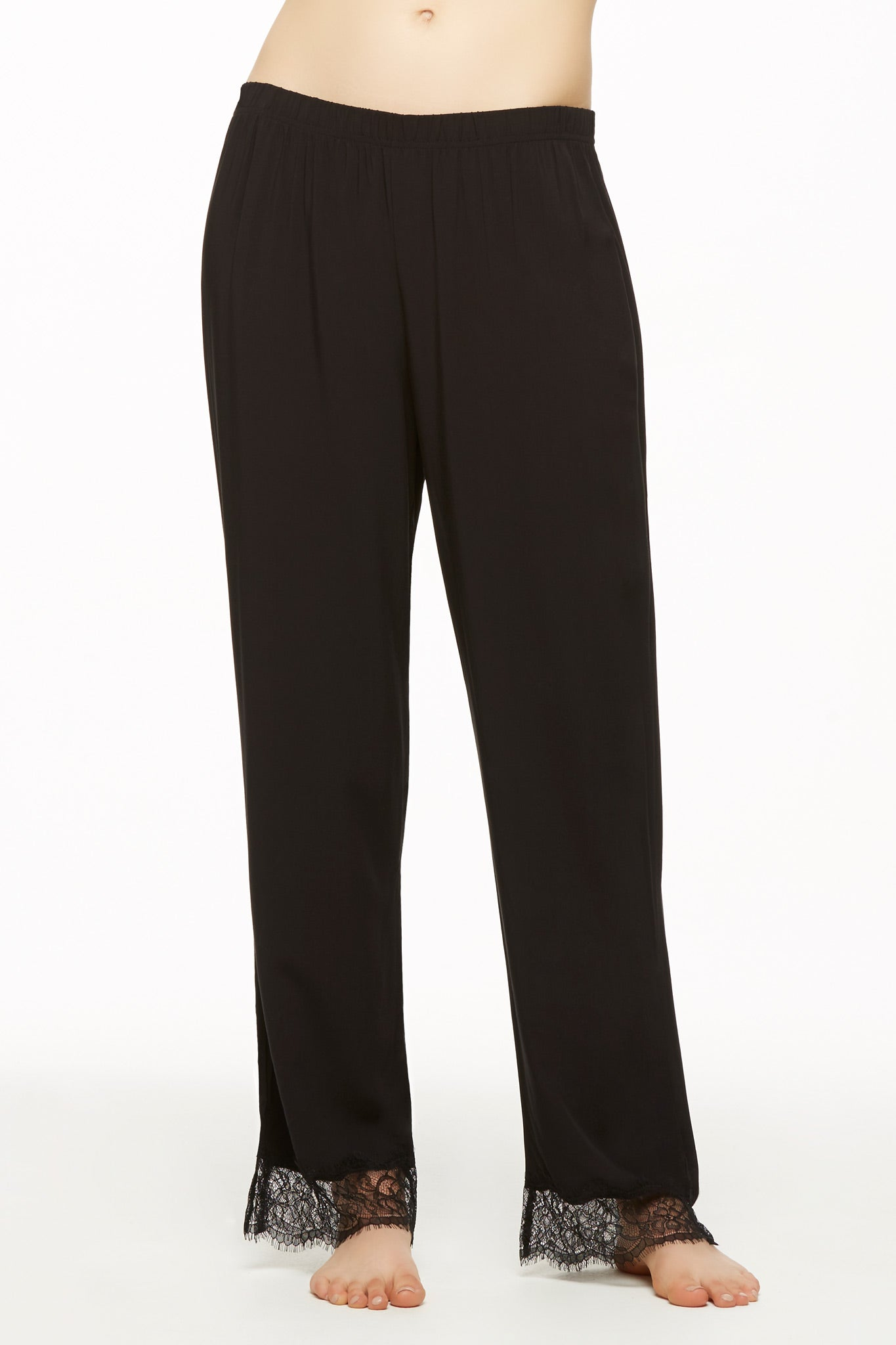 Lounge Pant with Eyelash Lace