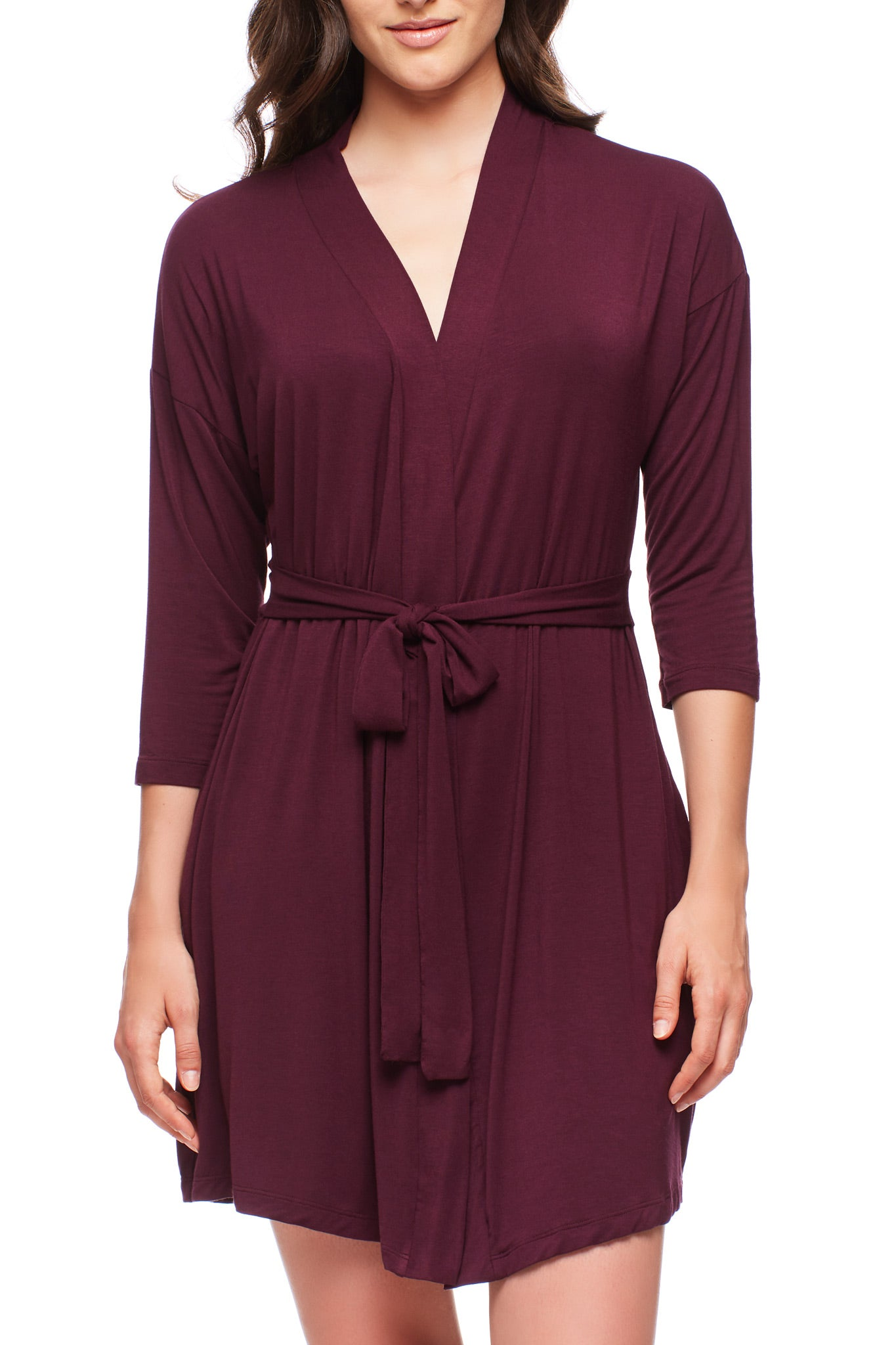 Black Cherry Drop Shoulder Robe