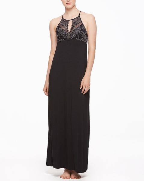 Winter Escapes High-Neck Long Gown