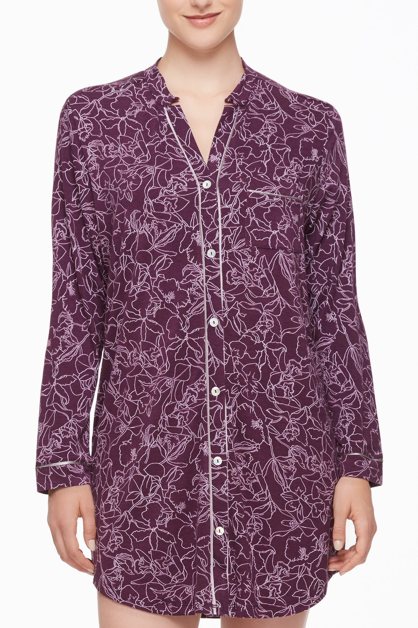 Midnight Reverie Button-Down Nightshirt