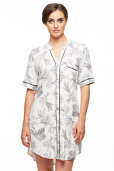 Midnight Reverie Button Down Nightshirt