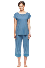 Manhattan Dawn Dolman Sleeve Top & Capri Set