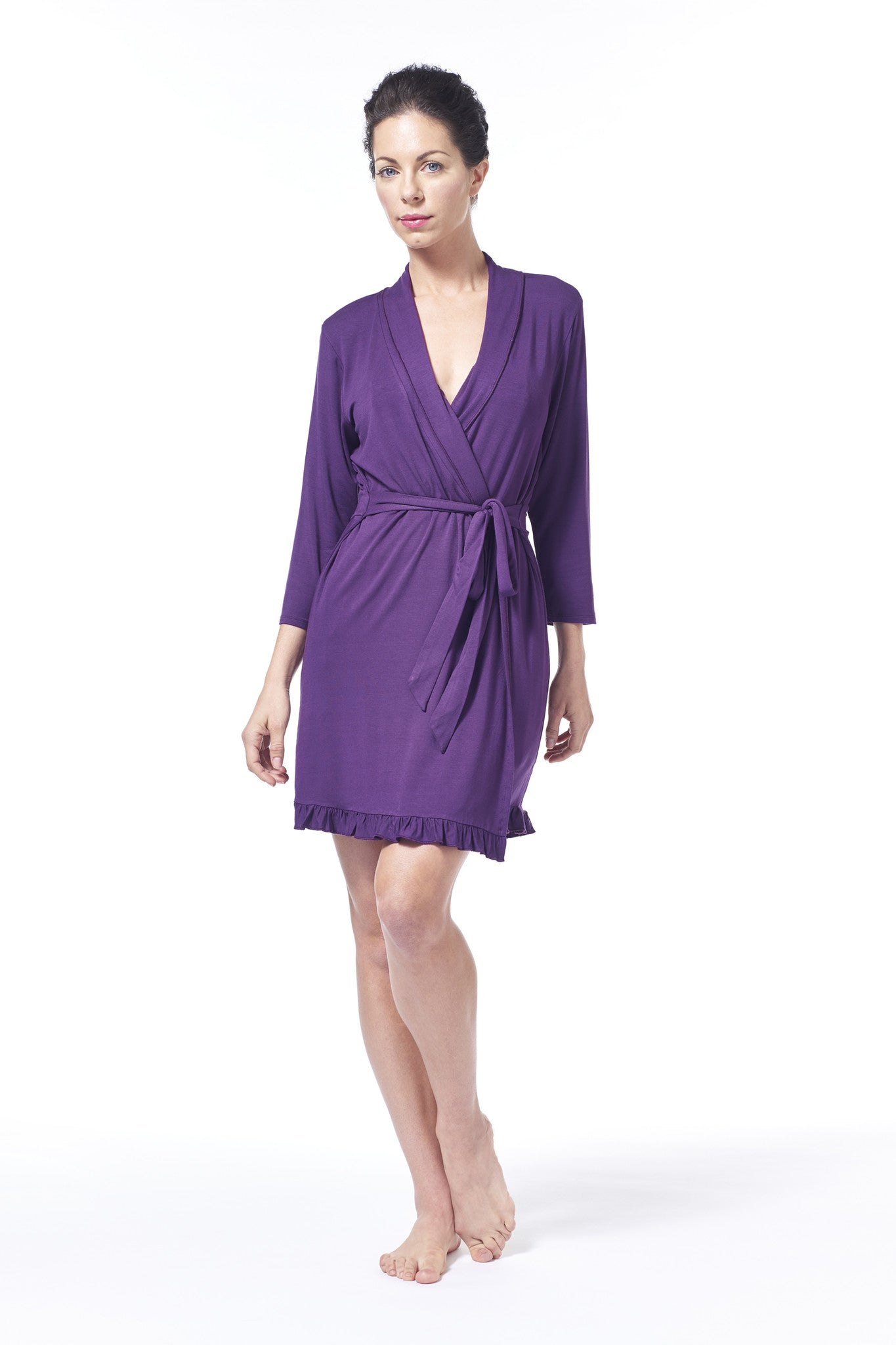 Stay With Me 3/4 Sleeve Ruffle Robe