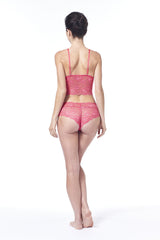 Tickle Me Pink Lacy Cheeky