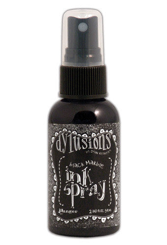 Dylusions Ink Spray - Black Marble - Shop and Crop Scrapbooking
