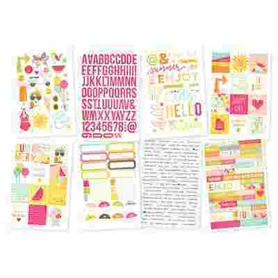 Sunshine and Happiness 6x4 Stickers - Shop and Crop Scrapbooking