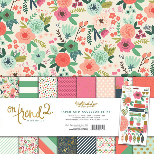 On Trend 2 Collection Pack - Shop and Crop Scrapbooking