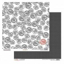 Black & White 12x12 Paper Floral - Shop and Crop Scrapbooking