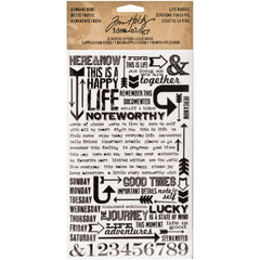 "Idea-Ology Remnant Rubs Life's Quotes Rub-Ons 4.75""X7.75"" 2/Pkg"