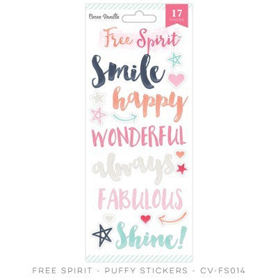 Free Spirit PUFFY STICKERS - Shop and Crop Scrapbooking