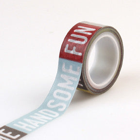 Pinstripes Washi Tape Boy Words - Shop and Crop Scrapbooking