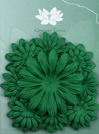 Petals Mixed Xmas Green - Shop and Crop Scrapbooking