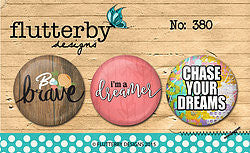FLAIR BUTTON NO.380 - Shop and Crop Scrapbooking