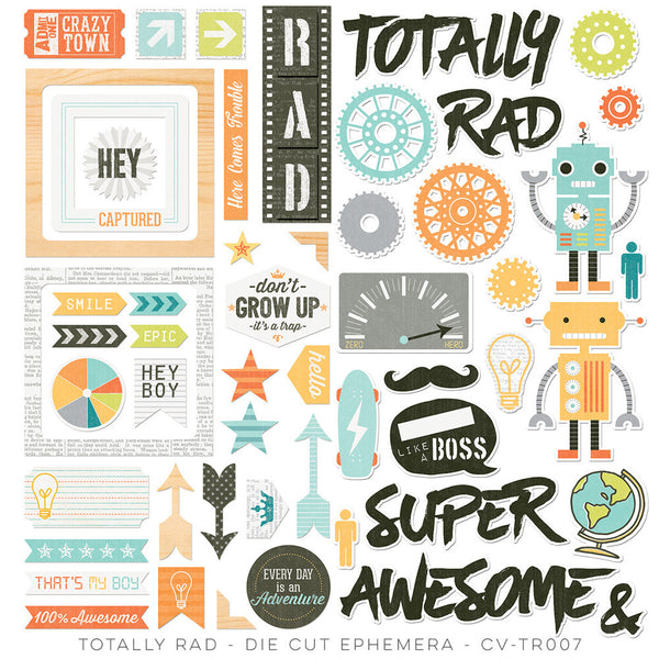 Totally Rad Die Cut Ephemera - Shop and Crop Scrapbooking
