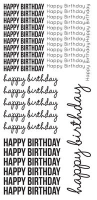 Clear Stickers - Happy Birthday - Shop and Crop Scrapbooking