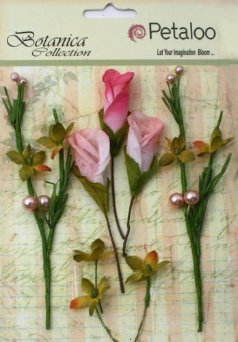 Petaloo Flowers CALLA LILIES AND BERRIES Pink - Shop and Crop Scrapbooking