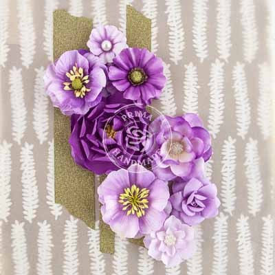 Prima Flowers-Capistrano - Grape Soda - Shop and Crop Scrapbooking