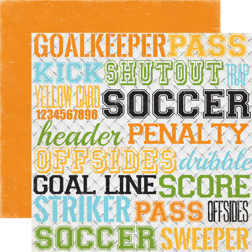 Goal - Soccer Words 12 x 12 Paper - Shop and Crop Scrapbooking