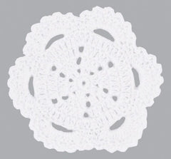 Crochet Doilie Scallop White