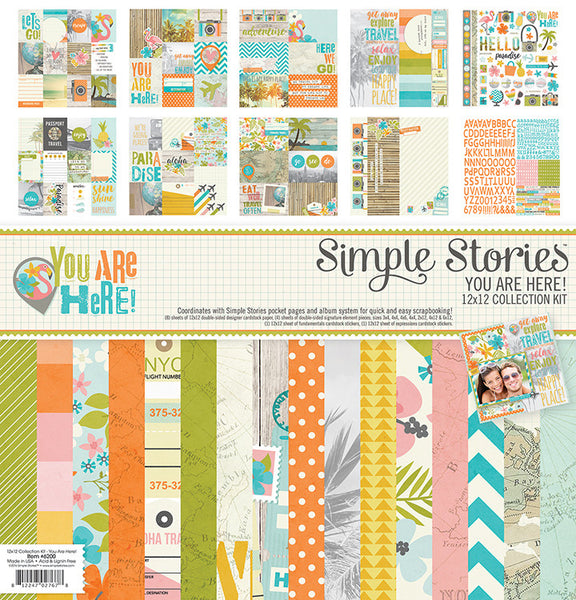 You Are Here 12x12 Collection Kit - Shop and Crop Scrapbooking