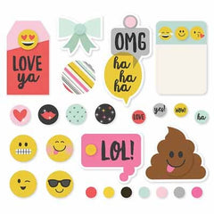 Simple Stories - Emoji Love Collection - Decorative Brads