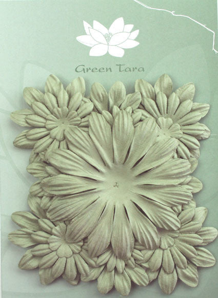 Petals Mixed Sage - Shop and Crop Scrapbooking