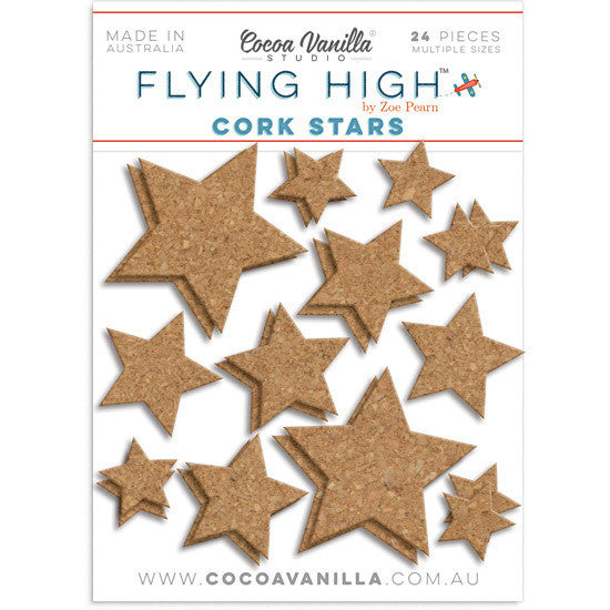 FLYING HIGH CORK STARS - Shop and Crop Scrapbooking