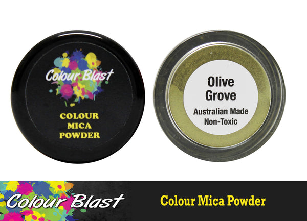 Colour Mica Powder - Olive Grove - Shop and Crop Scrapbooking