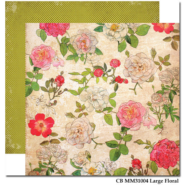 Carta Bella Large Floral Paper - Moments & Memories - Shop and Crop Scrapbooking