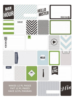 Themed Cards - Man's World 60pk - Shop and Crop Scrapbooking